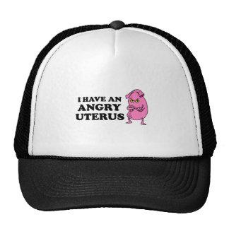 ANGRY UTERUS TRUCKER HAT