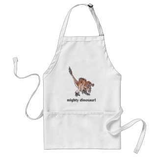 Angry Velociraptor Adult Apron