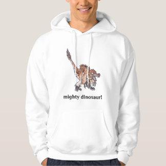 Angry Velociraptor Hooded Sweatshirt