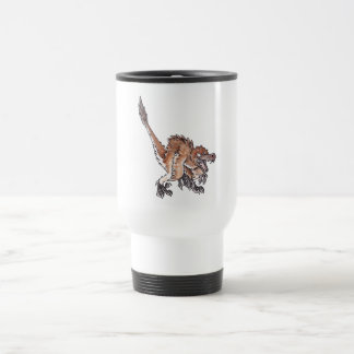 Angry Velociraptor 15 Oz Stainless Steel Travel Mug