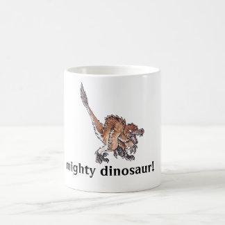 Angry Velociraptor Classic White Coffee Mug