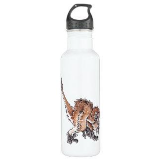 Angry Velociraptor 24oz Water Bottle