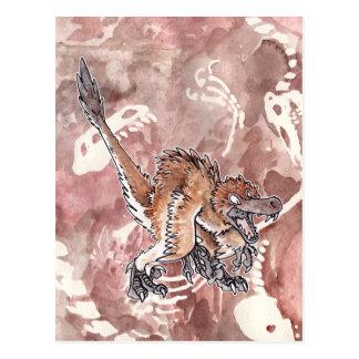 Angry Velociraptor Postcard