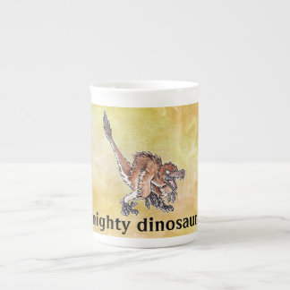 Angry Velociraptor Tea Cup