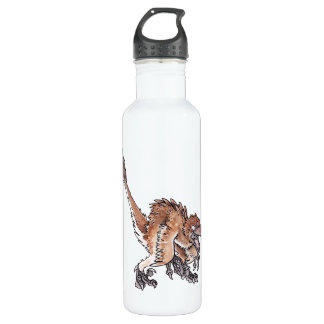 Angry Velociraptor Stainless Steel Water Bottle
