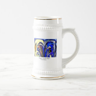 """""""Angry Virtual Glass"""" Beer Stein 18 Oz Beer Stein"""