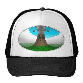 Angry Volcano Print Trucker Hat