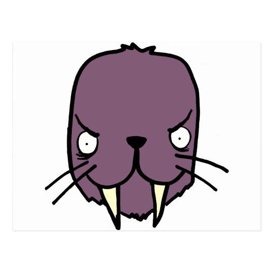 Angry Walrus Postcard