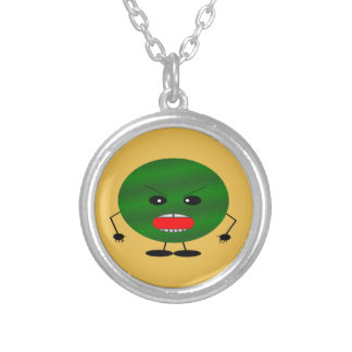 Angry Watermelon by Kenneth Yoncich Silver Plated Necklace