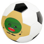 Angry Watermelon by Kenneth Yoncich Soccer Ball