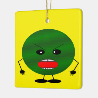 Angry Watermelon Ceramic Ornament
