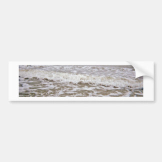 Angry Waves Coming Up Coast Car Bumper Sticker
