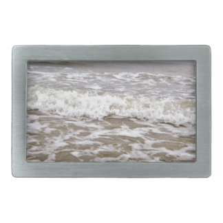 Angry Waves Coming Up Coast Rectangular Belt Buckle