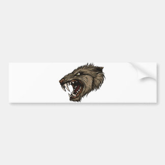 Angry Werewolf Bumper Sticker
