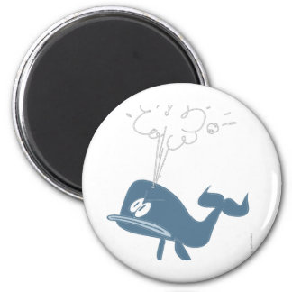 ANGRY WHALE 2 INCH ROUND MAGNET