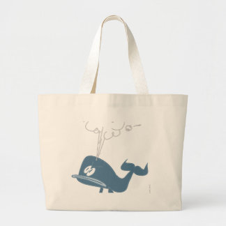 ANGRY WHALE LARGE TOTE BAG