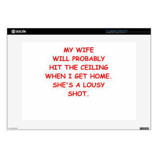 angry wife laptop skins