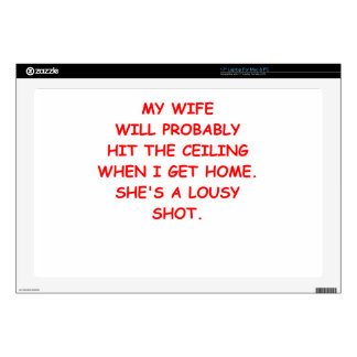 angry wife decal for laptop