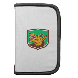 Angry Wild Dog Fangs Side Shield Retro Planner