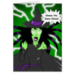 Angry Witch: Birthday Greeting Card