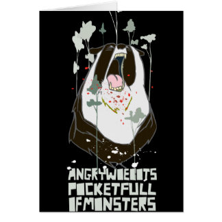 """Angry Woebots """"Pocket Full of Monsters"""" Greeting Cards"""