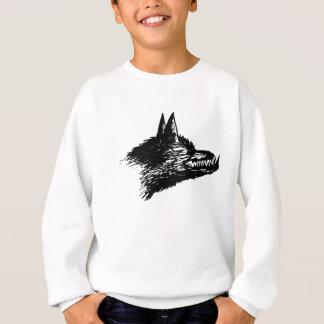 Angry Wolf Drawing Sweatshirt
