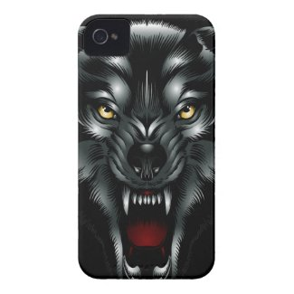 Angry Wolf Face iPhone 4 Case