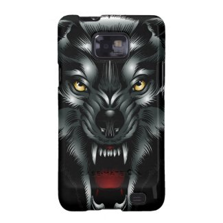 Angry Wolf Face Samsung Galaxy S2 Case