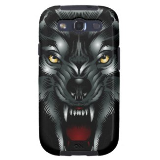 Angry Wolf Face Samsung Galaxy S3 Case