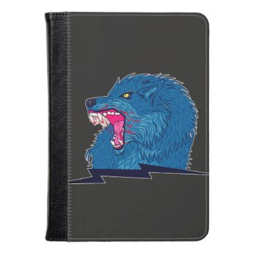 Halloween Themed Angry Wolf Illustration Kindle Case