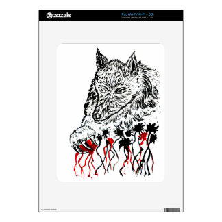 Angry Wolf Sketch2 Decal For The iPad