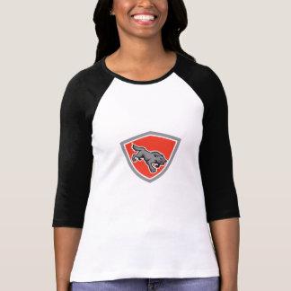 Angry Wolf Wild Dog Stalking Shield Retro T Shirts