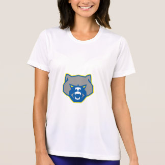 Angry Wolverine Head Front Retro T-Shirt