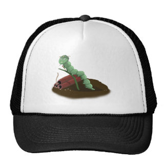 angry worm trucker hat