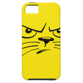 Angry Yellow Kitty Face iPhone SE/5/5s Case