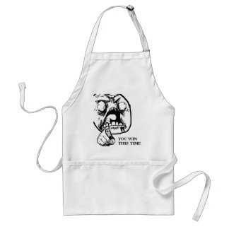 Angry You Win This Time Face Adult Apron