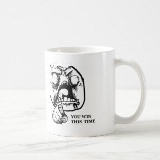 Angry You Win This Time Face Coffee Mug