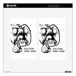 Angry You Win This Time Face Kindle Fire Decal