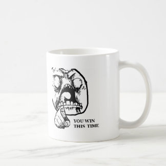 Angry You Win This Time Face Coffee Mugs