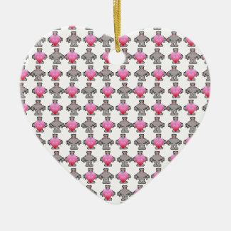AngryBot LoveBot Ceramic Ornament