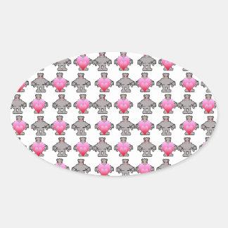 AngryBot LoveBot Oval Sticker