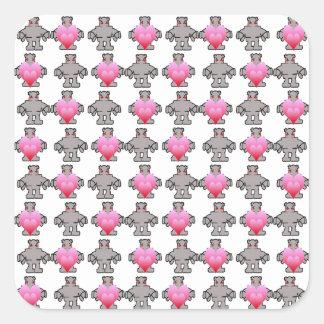 AngryBot LoveBot Calcomania Cuadrada Personalizada