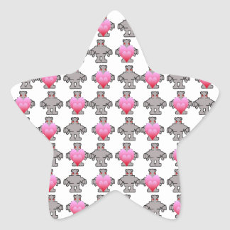 AngryBot LoveBot Calcomanía Forma De Estrella Personalizada