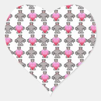 AngryBot LoveBot Pegatina En Forma De Corazón