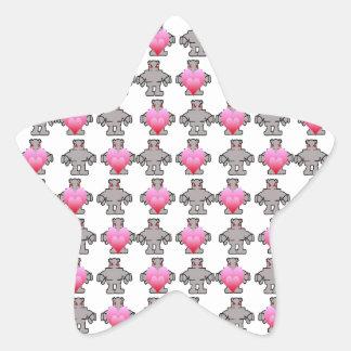 AngryBot LoveBot Pegatina En Forma De Estrella