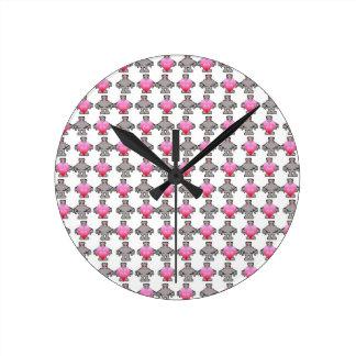 AngryBot LoveBot Round Clock