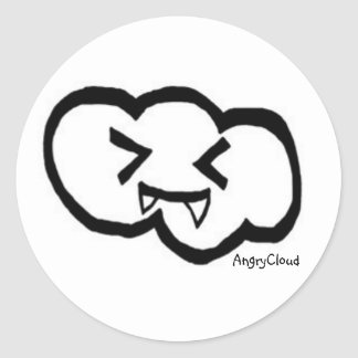 AngryCloud Classic Round Sticker