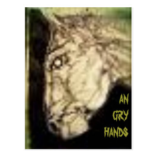 ANGRYHANDS/GHOSTHORSE POSTCARD