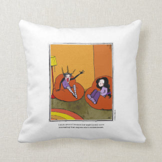 ANGST cartoon by Ellen Elliott Throw Pillow