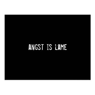 angst is lame postcard